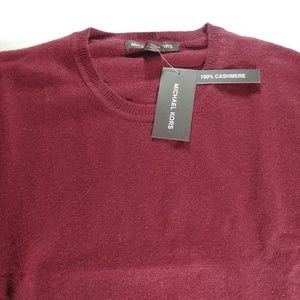 Michael Kors - Men's 100% Cashmere Sweater - Red